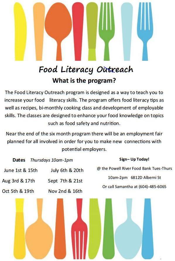 Food Literacy Program – Powell River Food Bank
